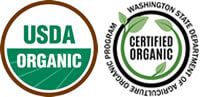 USDA and WSDA Certified Organic Seals